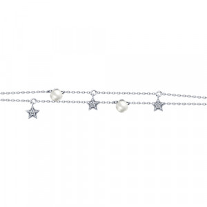 925 Sterling Silver bracelets with pearl and pearl imit.