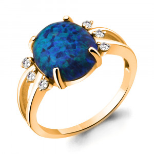 925 Sterling Silver women's rings with cubic zirconia and opal