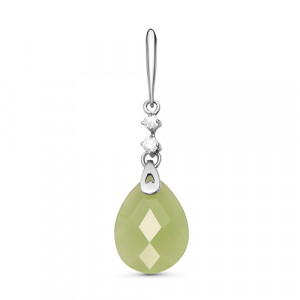 925 Sterling Silver pendants with synthetic jade