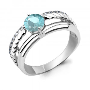 925 Sterling Silver women's rings with cubic zirconia and glass