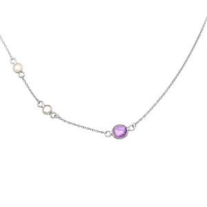 925 Sterling Silver necklaces with pearl