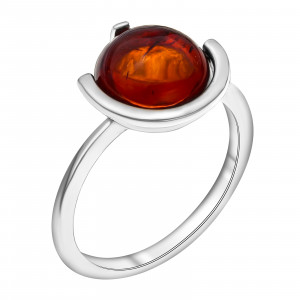 925 Sterling Silver women's rings with  and amber