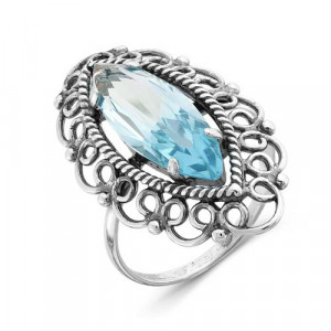 925 Sterling Silver women's rings with glass and alpana