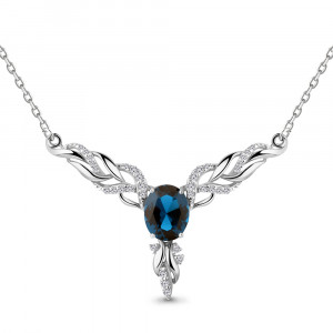925 Sterling Silver necklaces with nano london topaz