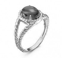 925 Sterling Silver women's rings with imit. coral and sitall