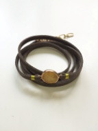 Bijuterii Alloy bracelets with quartz and leather