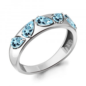 925 Sterling Silver women's rings with topaz