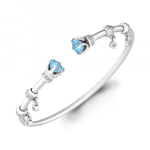 925 Sterling Silver bracelets with  and topaz