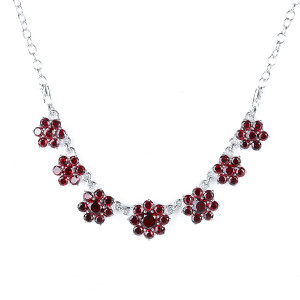 925 Sterling Silver necklaces with garnet