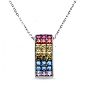 925 Sterling Silver necklaces with cubic zircon